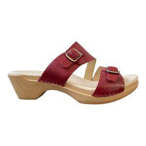 Dansko New Women's Sandal Karena Leather Red size 38